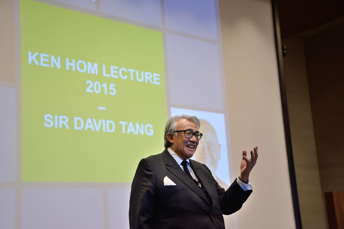 Sir David Tang at the Ken Hom Lecture 2015